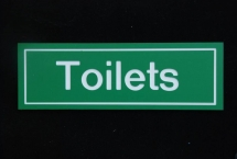 Toilets Sign.