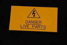 Danger Live Parts.