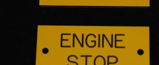 Engine Start / Engine Stop Sign